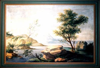 Antonio Rosa - Quadri con paesaggi decorativi.
