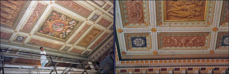 Soffitti in legno decorati amazing bordini decorativi di - Decorazioni in gesso per soffitti ...