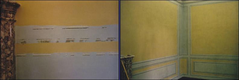 Riproduzione di decorazioni di cornici ad imitazione - Decorazioni su pareti ...